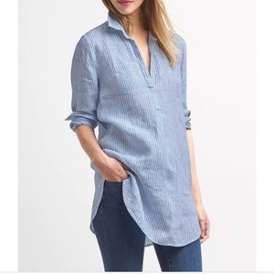 Gap women's linen tunic shirt